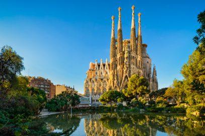inside; barcelona; spain; sagrada familia;